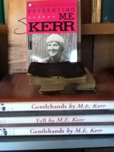 I just enjoy seeing stacks of books by M. E. Kerr.