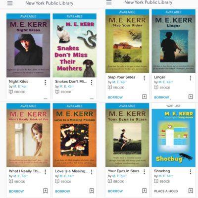 ME Kerr books at NYPL 1