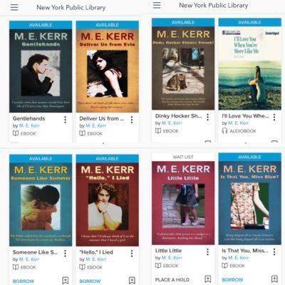 ME Kerr books at NYPL 2